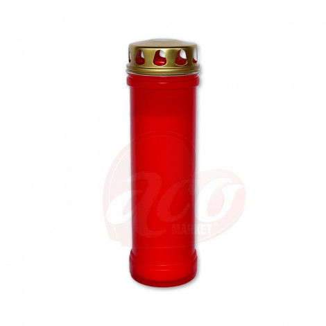 Candela plastic rosie tip 7 cu capac 100h 60LL
