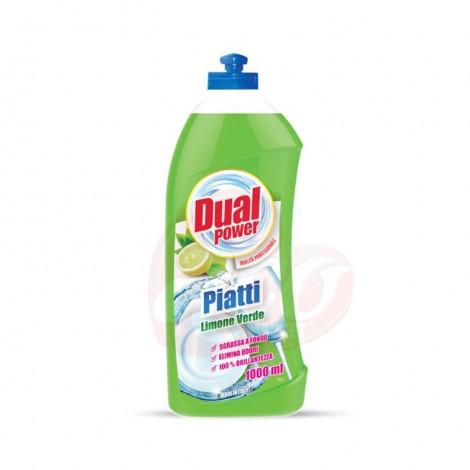 Detergent de vase Dual Power Lemone Verde 1l