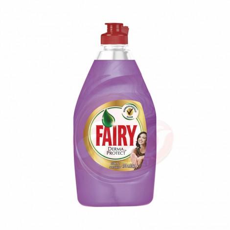 Detergent de vase Fairy Derma Protect Silk & Orchid 450 ml