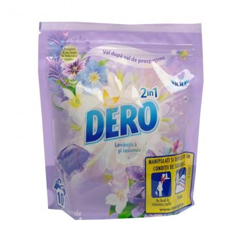 Detergent gel capsule Dero la punga levantica si iasomie 10x24ml