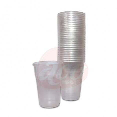 Pahare de unica folosinta transparente  250ml 50/set Est