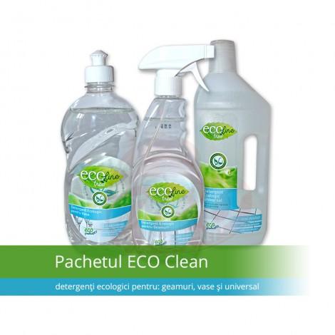 Pachet Ecoline - detergent universal + detergent geam + detergent vase