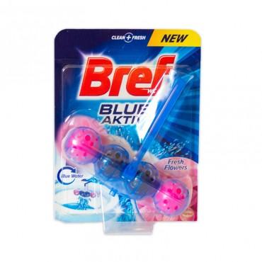 Odorizant toaleta Bref Blue Aktiv Fresh Flowers 50 gr