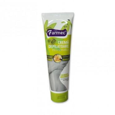 Crema depilatoare Farmec piele sensibila cu vanilie 150gr.