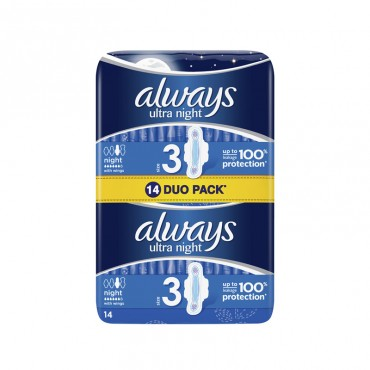 Absorbante Always Duo Pack Night 14/set