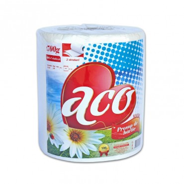 Prosop de bucatarie Aco alb 700 gr 2 straturi