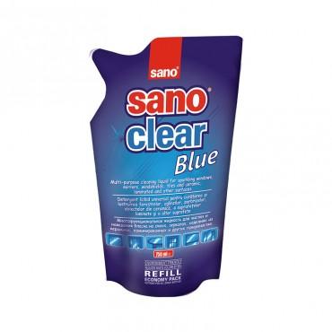 Detergent geamuri Sano Clear Blue Refill 750 ml