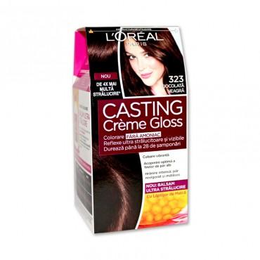 Vopsea de par L'Orèal Casting Crème Gloss 323 ciocolata neagra