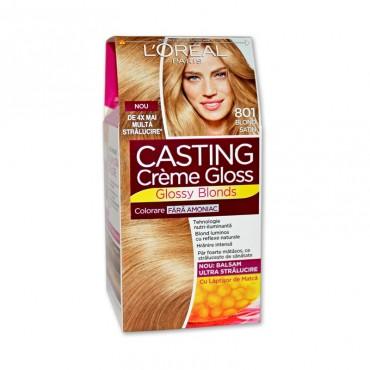 Vopsea de par L'Orèal Casting Crème Gloss 801 blond satin