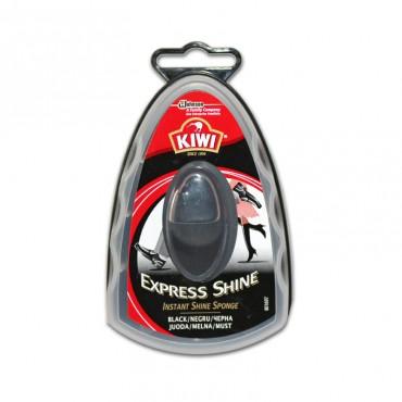 Burete cu silicon pentru incaltaminte negru Kiwi Express Shine