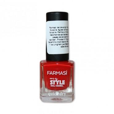 Lac de unghii Farmasi My Style Quick Dry rosu 507, 6ml