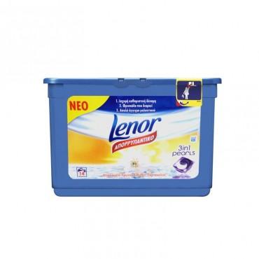 Detergent capsule gel Lenor 3 in 1 Pearls Crin Alb 14 x 29.2 gr