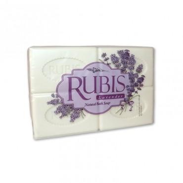Sapun solid parfumat cu lavanda Rubis 4 x 125 gr.