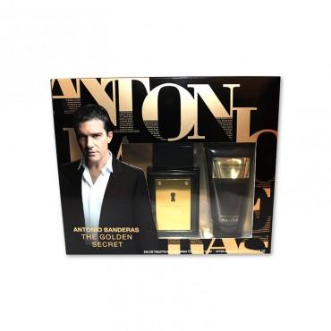 Caseta Antonio Banderas Gold Secret (apa de toaleta+ balsam dupa ras)