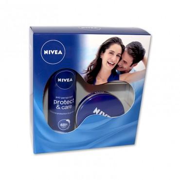 Caseta Nivea dama (crema 75ml + deo protect)