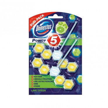 Odorizant wc Domestos Power Lime 2x55 gr