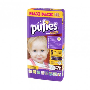 Scutece Pufies new maxi pack 5, 50/set