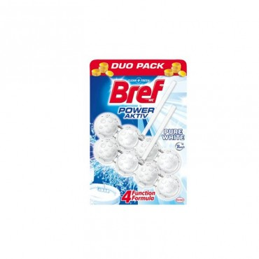 Odorizant wc Bref Power bile Duo Pack Pure White 2 x 50 gr