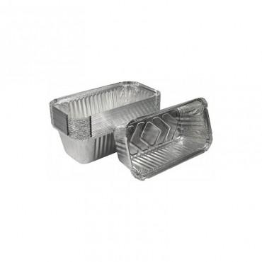Caserola dreptunghiulara aluminiu Est 5 buc / set