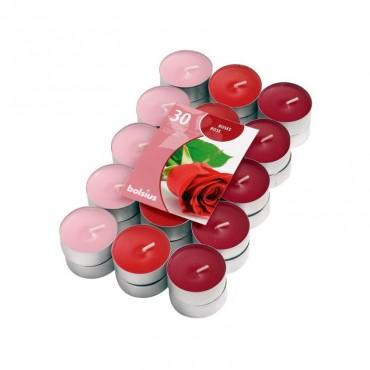Lumanari pastila parfumate trandafir 30/set 4h