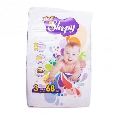 Scutece pentru copii Sleepy 3 Midi 68 buc/set