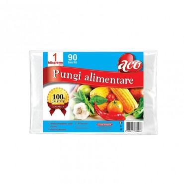 Pungi alimentare Aco incolore 1kg 90/set