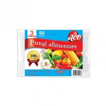 Pungi alimentare Aco incolore 3kg 90/set