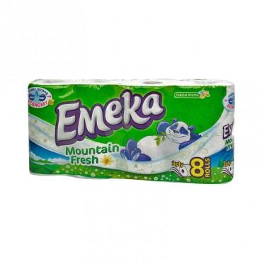 Hartie igienica Emeka Mountain Fresh 3 straturi 8/set