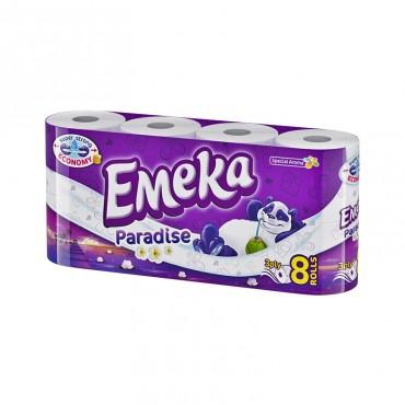 Hartie igienica Emeka Paradise 3 straturi 8/set