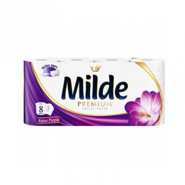 Hartie igienica Milde Relax Purple 3 straturi 8/set