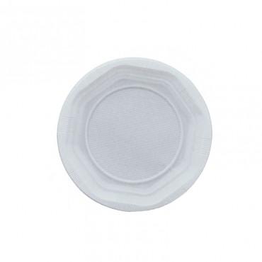 Farfurii plastic albe desert Est 17 cm 50 buc/set