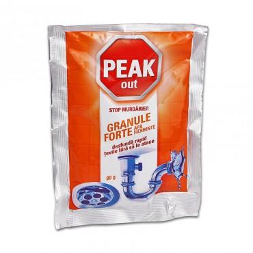 Granule pentru desfundat tevi Peak Out apa fierbinte 80 gr