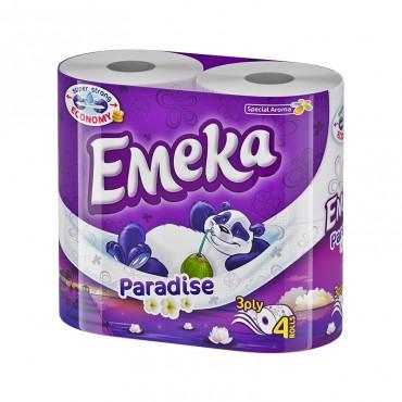 Hartie igienica Emeka Paradise 3 straturi 4/set