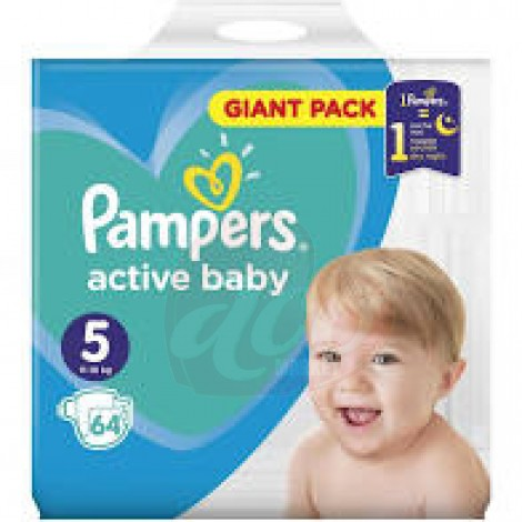 Scutece Pampers Active Baby Maxi nr.5 64/set