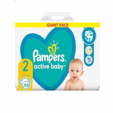 Scutece Pampers Active Baby Maxi nr.2 2-8 kg 96/set