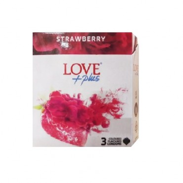 Prezervative Love Plus Strawberry, 3 bucati