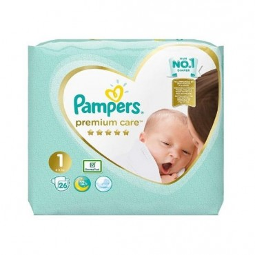 Scutece Pampers Premium Care nr.1 26/set