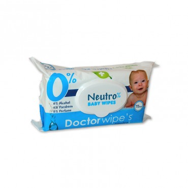 Servetele umede Doctor Wipe's Neutro cu capac 72 file