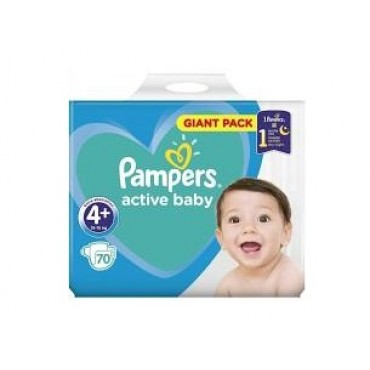 Scutece Pampers Active Baby Maxi nr.4+ 70/set