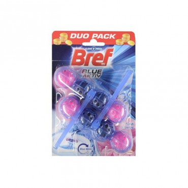 Odorizant wc Bref Power bile Duo Pack Flower Fresh 2 x 50 gr