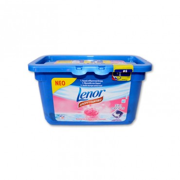 Detergent capsule gel Lenor 3in1 Pearls Bujor 14x29.2 gr
