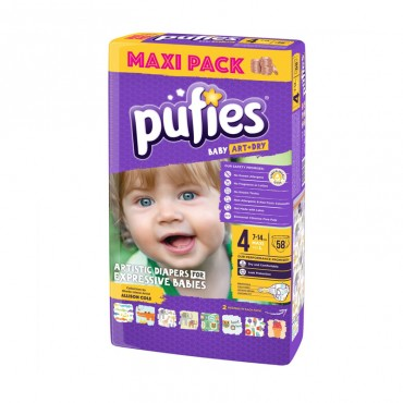 Scutece Pufies new maxi pack 4 58/set