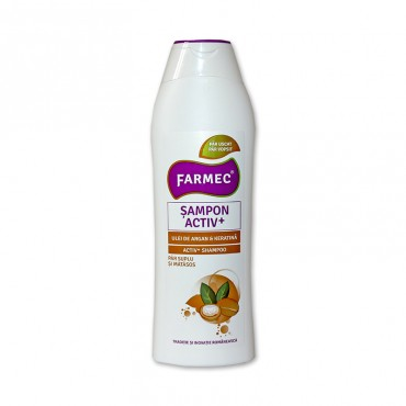 Sampon Farmec Activ+ Argan si Keratina 400ml