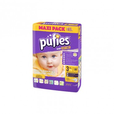 Scutece Pufies new maxi pack 3, 68/set