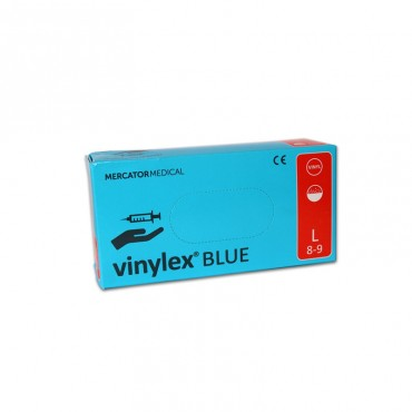 Manusi pudrate Vinylex L blue 100/set Mercator Medical