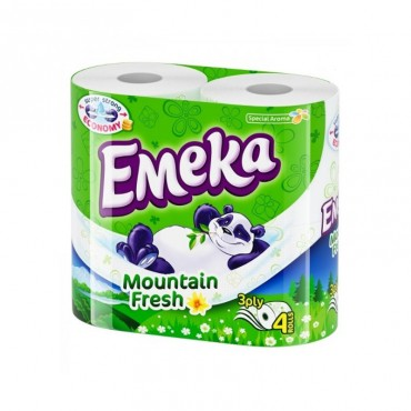 Image result for Hartie Igienica EMEKA Mountain Fresh   4 buc/set