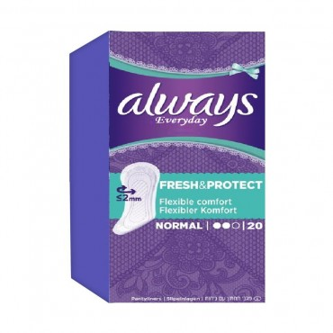 Absorbante Always Fresh & Protect Normal Deo  20/set