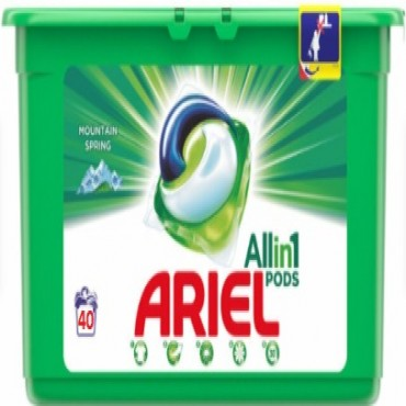 Detergent capsule Ariel Mountain Spring All in One PODS 40x23.8 ml
