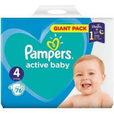 Scutece Pampers Active Baby Maxi nr.4 76/set