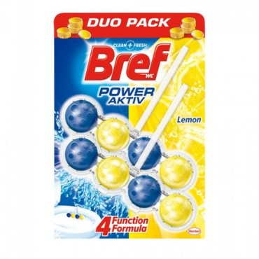 Odorizant wc Bref Power bile Duo Pack lime 2x50 gr